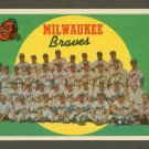 1959 Topps baseball set # 419 Milwaukee Braves team card