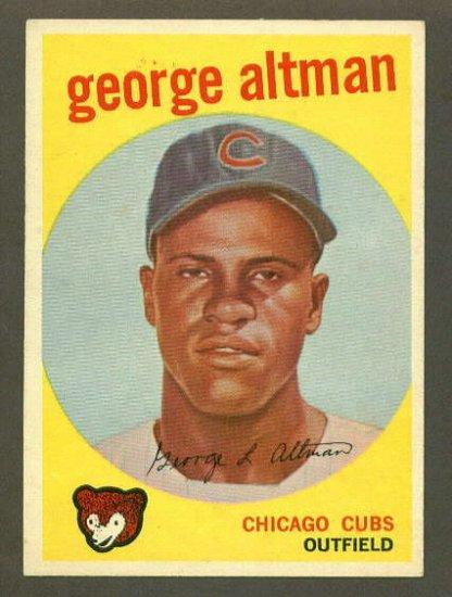 1959 Topps baseball set # 512 George Altman Chicago Cubs