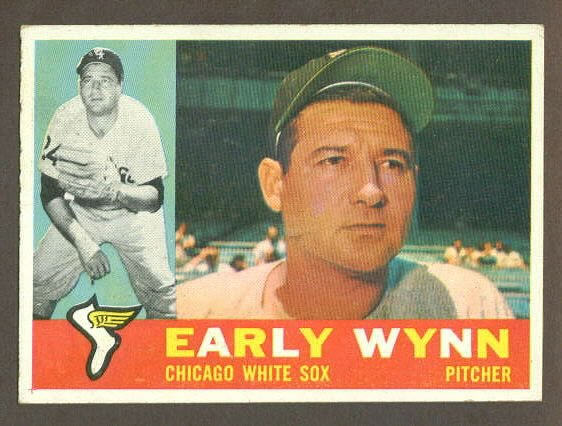 1960 Topps baseball set # 1 Early Wynn HOF Chicago White Sox