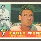 1960 Topps baseball set # 1 Early Wynn HOF Chicago White Sox