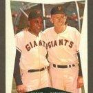 1960 Topps baseball set # 17 Willie Mays & Bill Rigney