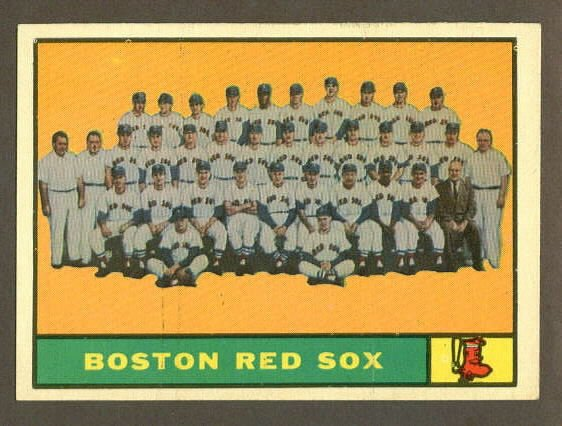 1961 Topps baseball set # 373 Boston Red Sox team card