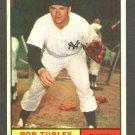 1961 Topps baseball set # 40 Bob Turley New York Yankees