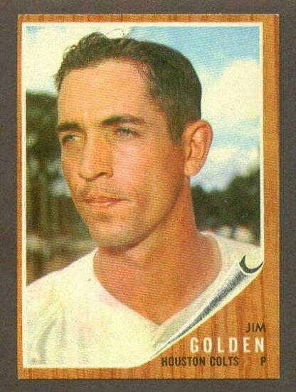 1962 Topps baseball set # 568 Jim Golden Houston Colts