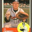 1963 Topps baseball set # 460 Del Crandall Milwaukee Braves