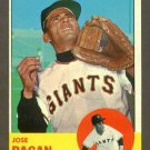 1963 Topps baseball set # 545 Jose Pagan San Francisco Giants