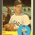 1963 Topps baseball set # 560 Ray Herbert Chicago White Sox