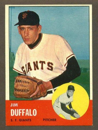 1963 Topps baseball set # 567 Jim Duffalo San Francisco Giants