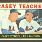 1964 Topps baseball set # 393 Stengel & Kranepool New York Mets