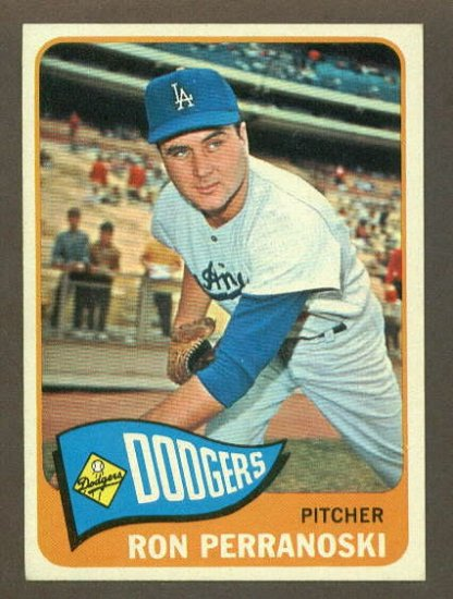 1965 Topps baseball set # 484 Ron Perranoski Los Angeles Dodgers
