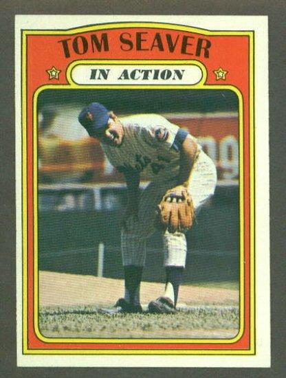 1972 Topps baseball set # 446 Tom Seaver In Action HOF New York Mets