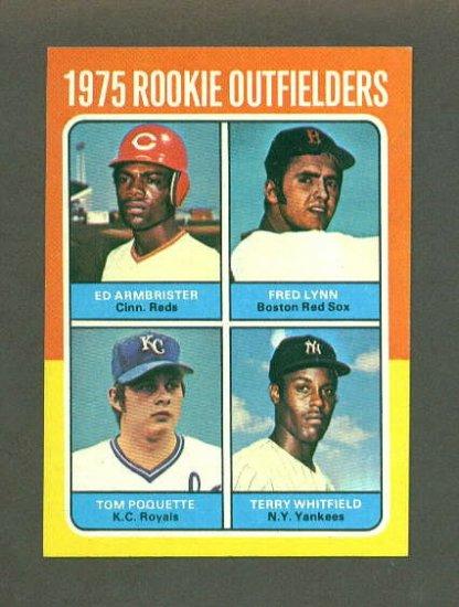 1975 Topps Mini baseball set # 622 Fred Lynn RC Boston Red Sox