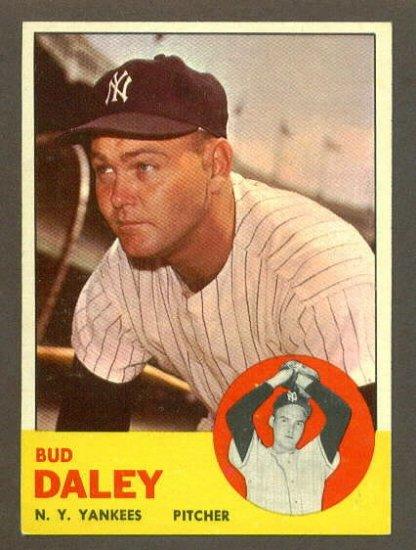 1963 Topps baseball set # 38 Bud Daley New York Yankees