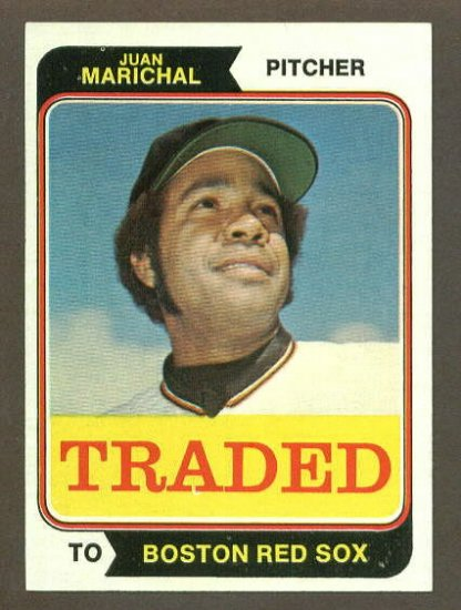 1974 Topps Traded baseball set # 330T Juan Marichal HOF Boston Red Sox