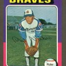 1975 Topps baseball set # 130 Phil Niekro HOF Atlanta Braves