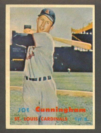 1957 Topps baseball set # 304 Joe Cunningham St. Louis Cardinals