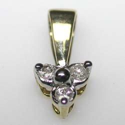 10k Gold Genuine Diamond Necklace 18.5in