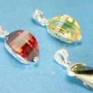 SS Pendants Set Of 3 Yellow Sapphire, Garnet, and Tourmaline