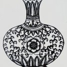 paper cut of chinese folk art products black vase #010