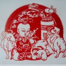 paper cut of chinese folk art product best wishes for the new year  #012