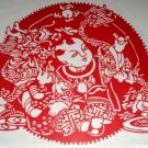 paper cut of chinese folk art product hope one's children will have a brilliant future #015