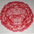 paper cut chinese folk art product double fish #030