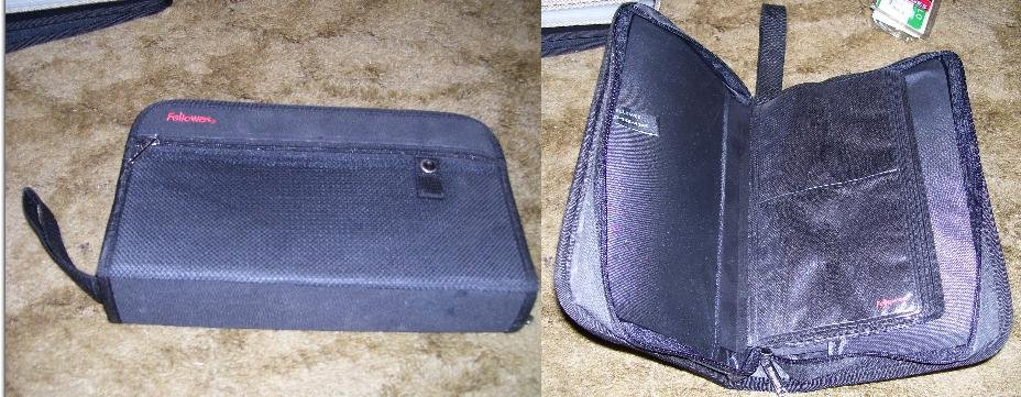 Fellowes Zip-Up Leather Portable CD / DVD Case