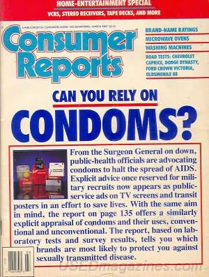 Consumer Reports Magazine - March 1989