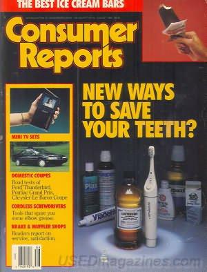 Consumer Reports Magazine - August 1989
