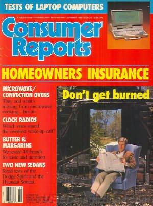 Consumer Reports Magazine - September 1989