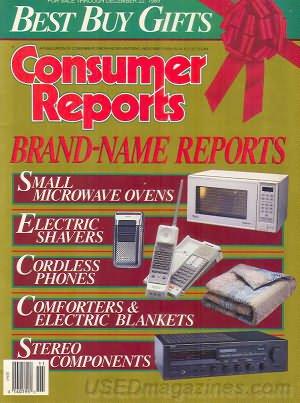 Consumer Reports Magazine - November 1989
