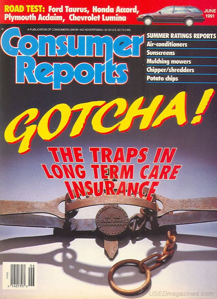 Consumer Reports Magazine - June 1991