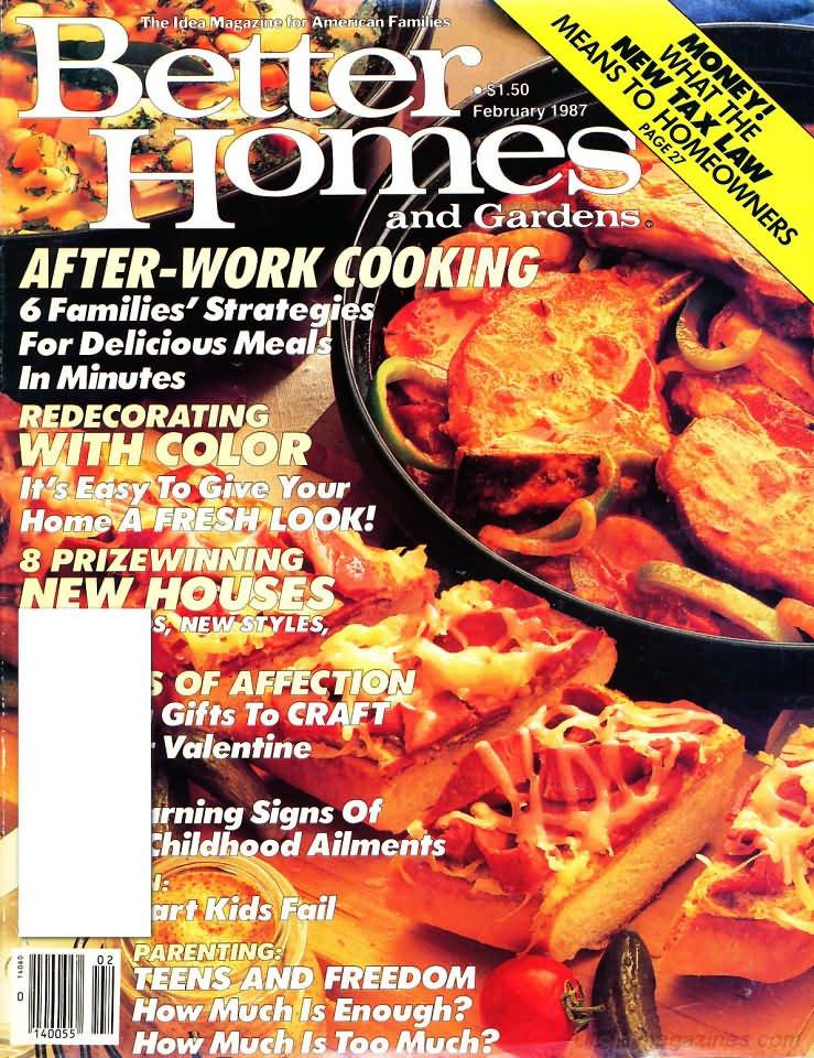 Better Homes & Gardens Magazine - February 1987