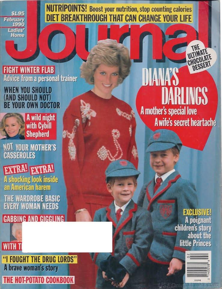 Ladies Home Journal Magazine - February 1990 - Princess Diana's Darlings