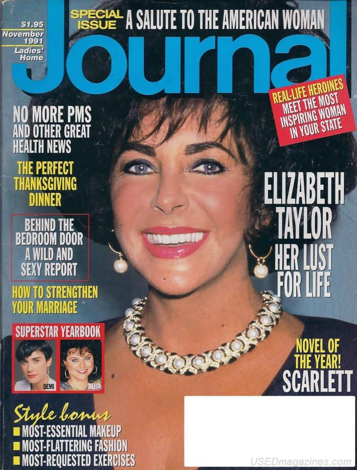 Ladies Home Journal Magazine - November 1991 - Elizabeth Taylor