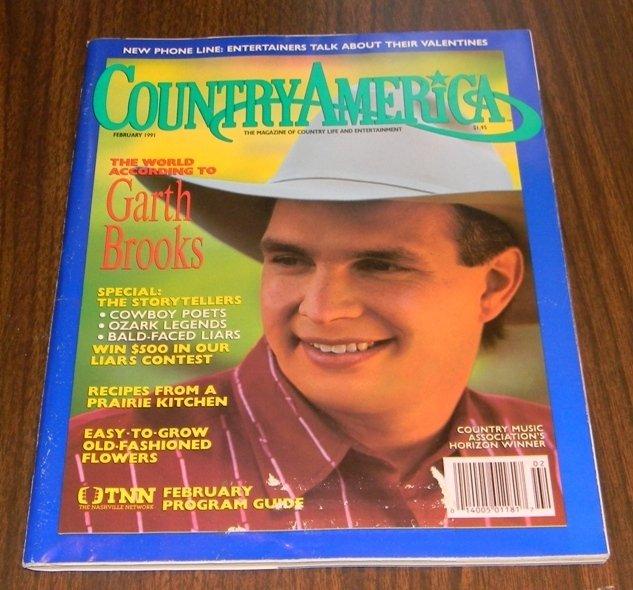 Country America Magazine - February 1991 - Garth Brooks