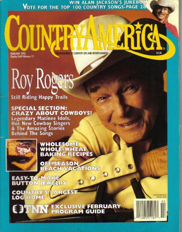 Country America Magazine - February 1992 - Roy Rogers