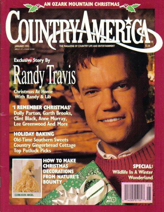 Country America Magazine - January 1992 - Randy Travis