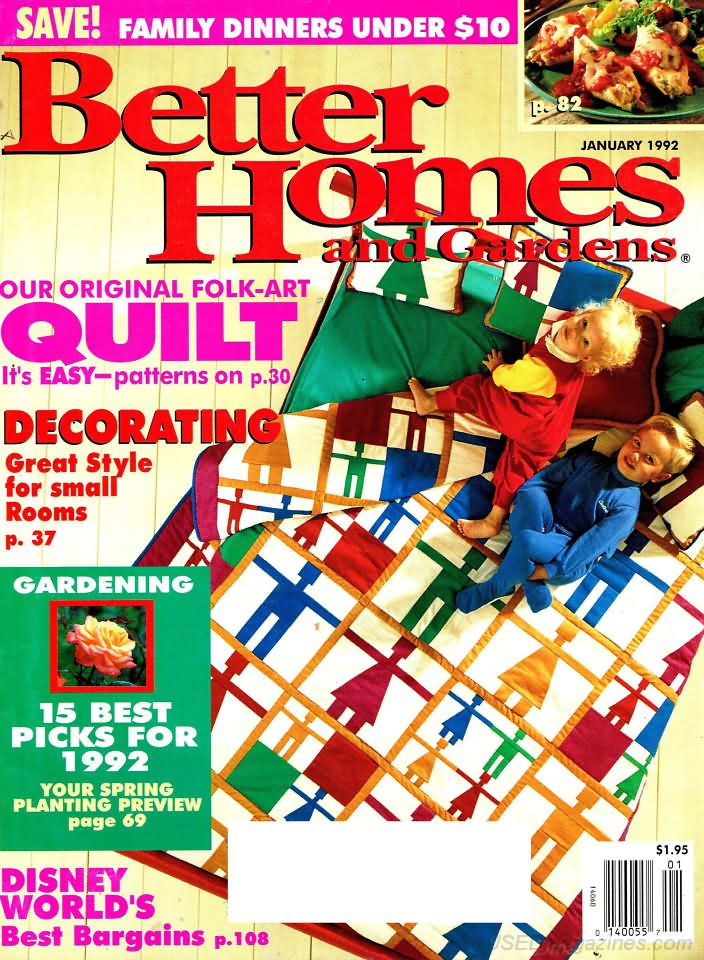 Better Homes & Gardens Magazine - January 1992