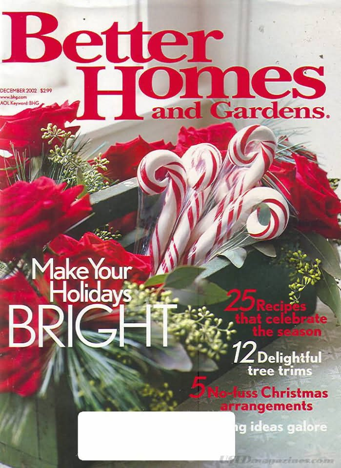 Better Homes Gardens Magazine December 2002