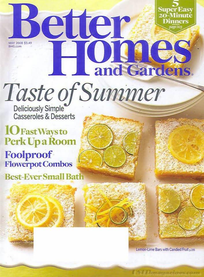 Better Homes & Gardens Magazine - May 2008