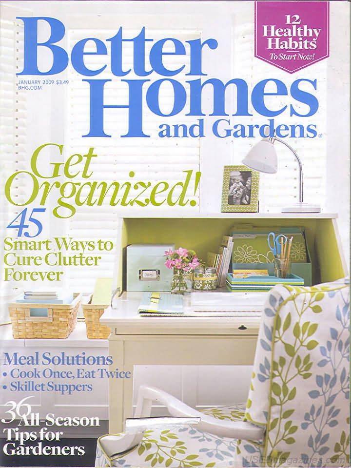 Better Homes & Gardens Magazine - January 2009