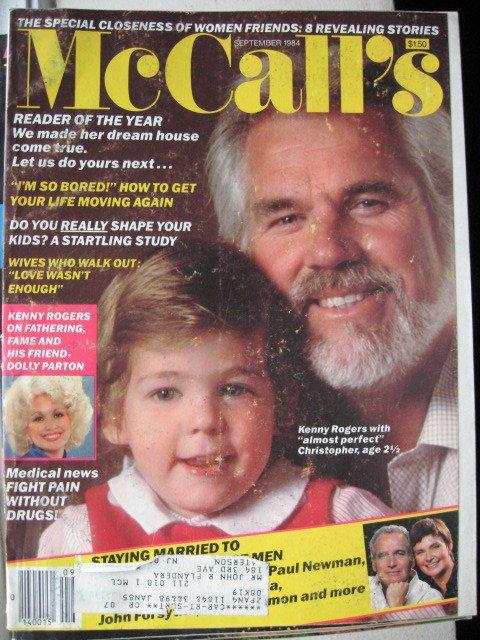 McCalls Magazine - September 1984 - Kenny Rogers