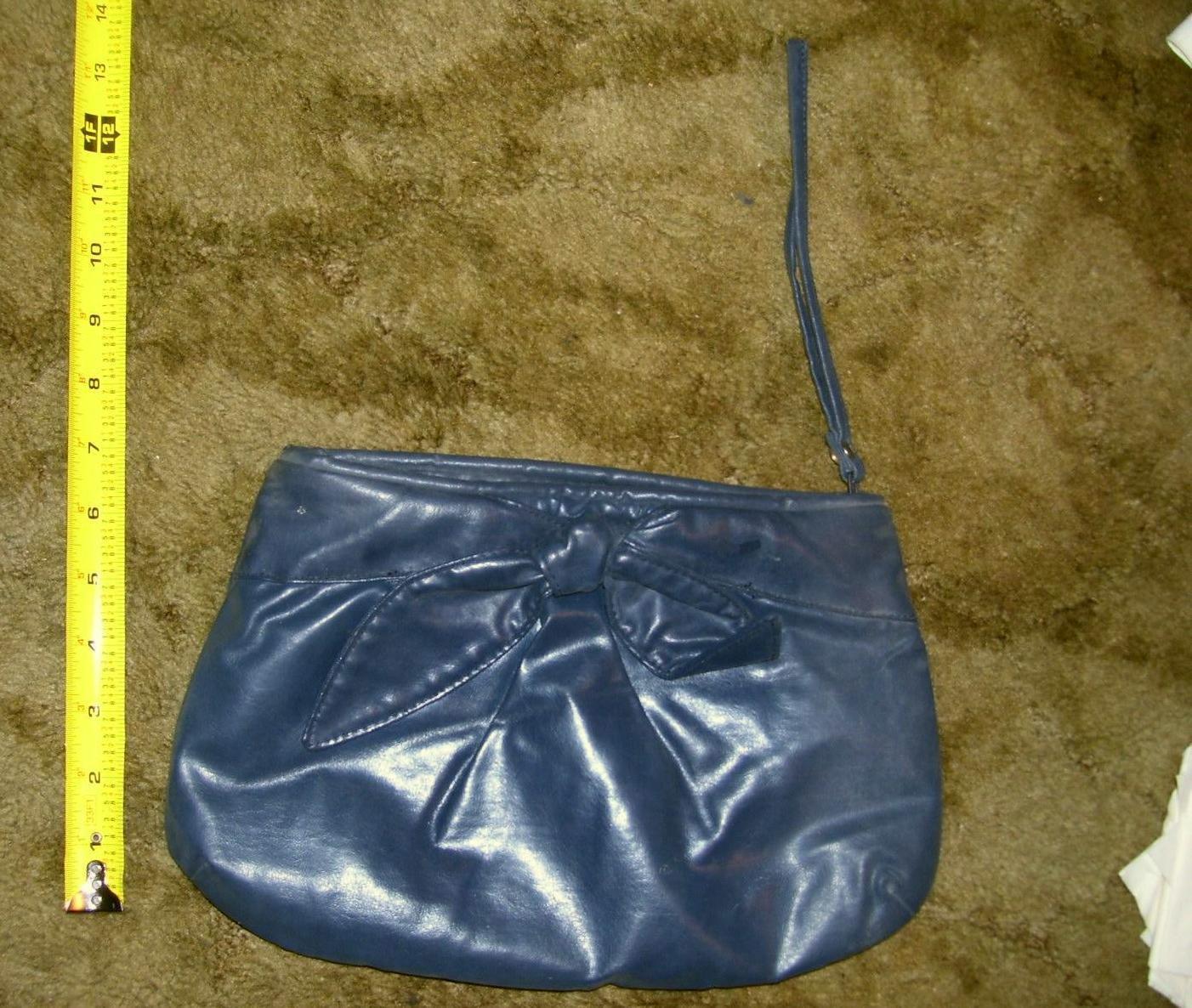 Vintage World Fashion Right Dark Blue / Charcoal Shade Clutch Handbag