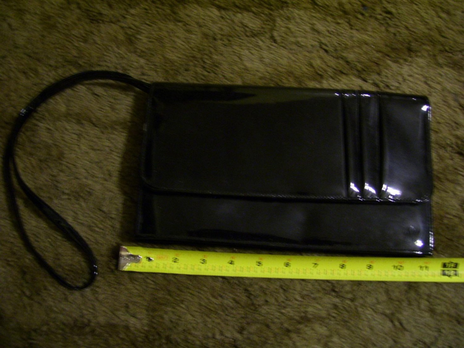 Vintage TMO Black Evening Handbag w/ Shoulder Strap