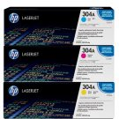 Genuine HP 304a Laser Jet Ink Cartridges, Tri-Color ; New, Sealed