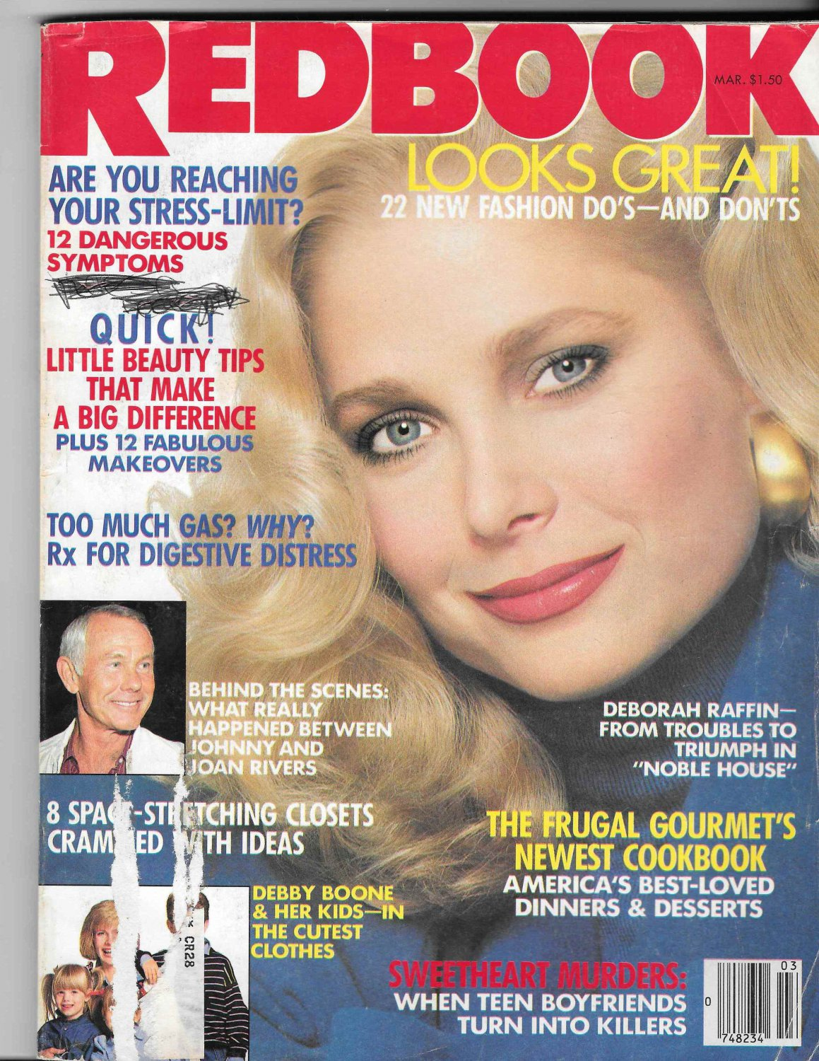 Redbook Magazine - March 1988 - Deborah Raffin