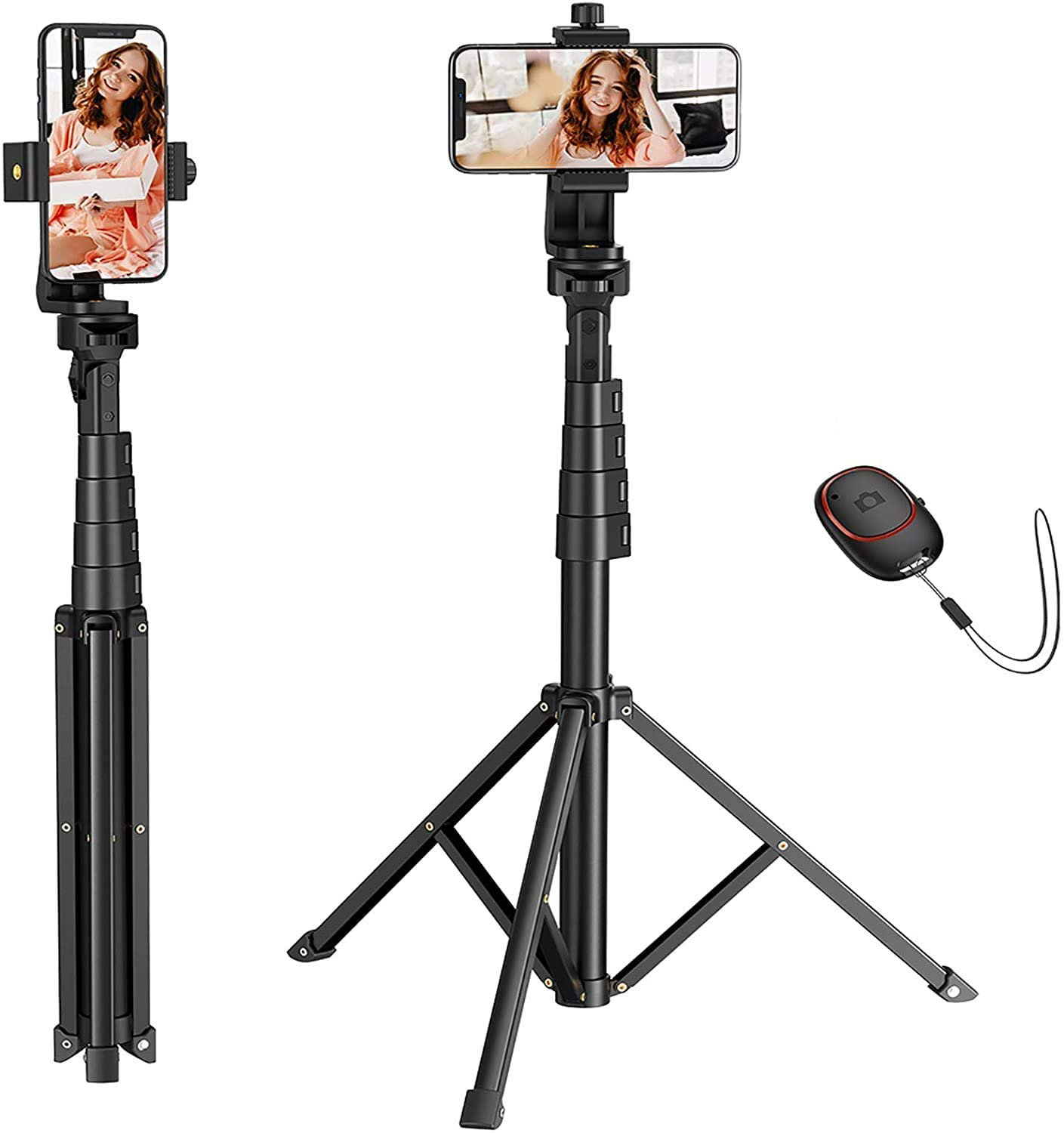 """Mpow Tripod / Selfie Stick for Camera / Cell Phone w/ Bluetooth Remote; to 57"""""""