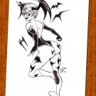Lilith Aensland Darkstalkers Original Pen and Ink Drawing (OOAK)
