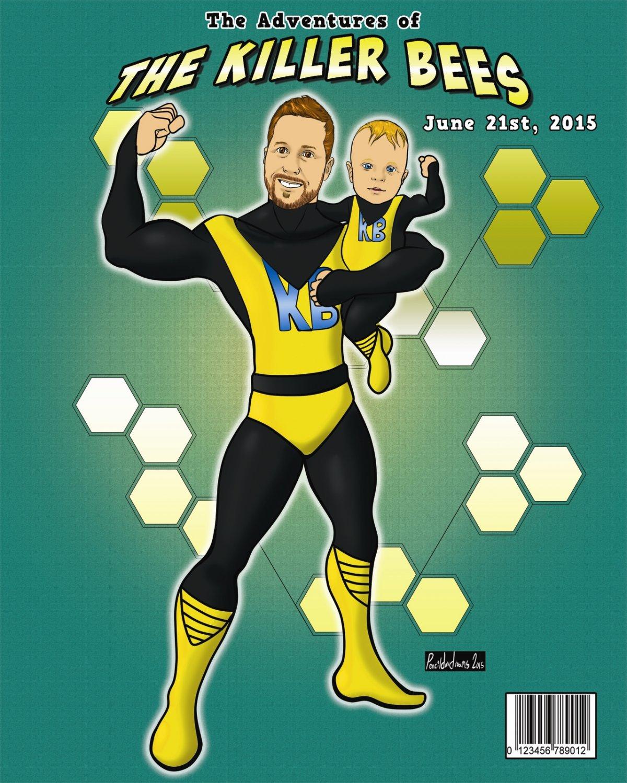 2 Person Custom Digital Fantasy Portrait/Comic Book Cover (Perfect for Fathers Day!)